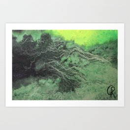 Fossil Fuels Original Mixed Media On Canvas, Abstract Painting Artwork, Contemporary Artist Photo Art Print