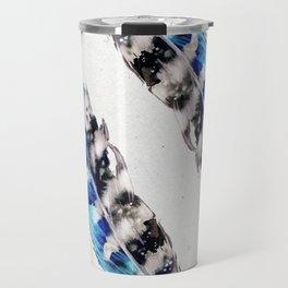 Two  blue feathers Travel Mug