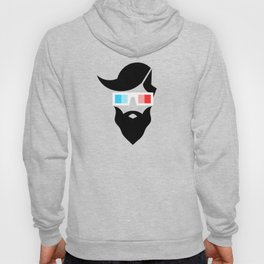 Hipster character design with 3D glasses Hoody
