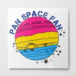 Pan Space Fan Metal Print