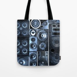 Music Speaker Sound Stack Tote Bag