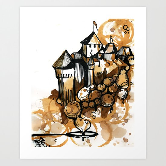 Castle float Art Print