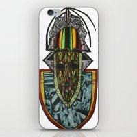 rasta iPhone & iPod Skins featuring African Rasta by Kwaku Osei Studio
