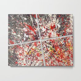 Trezzo - Splatter painting Metal Print
