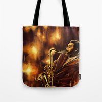 jazz Tote Bags featuring Jazz by Linarts