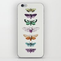 techno iPhone & iPod Skins featuring Techno-Moth Collection by Zeke Tucker