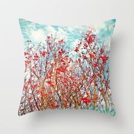 I Scratch the Sky Throw Pillow