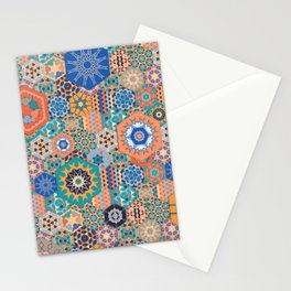 Hexagons Tiles (Colorful) Stationery Cards