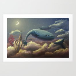Whale Flight Art Print