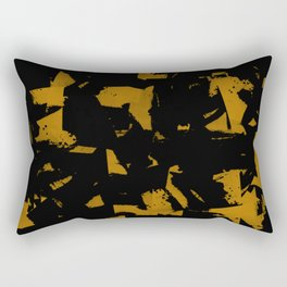 Looking For Gold - Abstract gold and black painting Rectangular Pillow