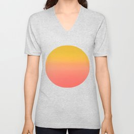 Coral to Gold Ombre Hombre Sunset Unisex V-Neck