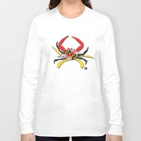 house md Long Sleeve T-shirts featuring MD Crab by EBz Designs