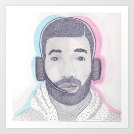 Drake Can't Help You With Your Cellphone Art Print