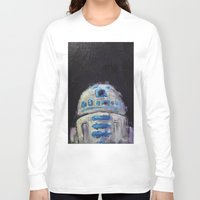 r2d2 Long Sleeve T-shirts featuring r2d2 by Thad Taylor Art