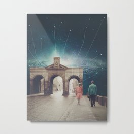 We met as Time Travellers Metal Print