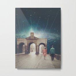 We met as Time Travellers Metal Print