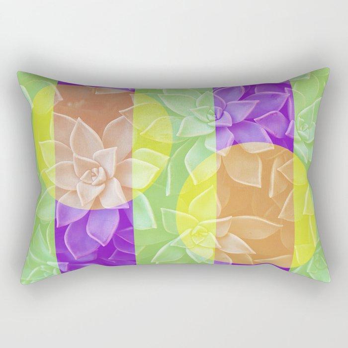Groovy Succulents Rectangular Pillow