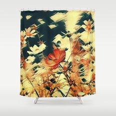 Cosmos in Abstract Shower Curtain