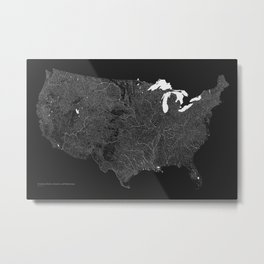 American Rivers, Streams, and Waterways Metal Print