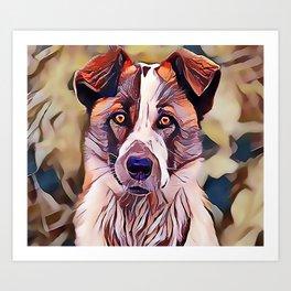 The Norwegian Elkhound Art Print