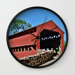 Sachs Covered Bridge 2 Wall Clock