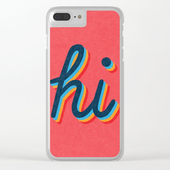 Hi - pink version Clear iPhone Case