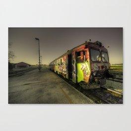 Pula Graffiti train  Canvas Print
