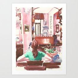 Caffè Boetto. Girls talk Art Print