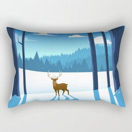 """Dances after dark"" - Aspen, Colorado Rectangular Pillow"