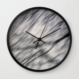 Blurry Tree Branches  Wall Clock