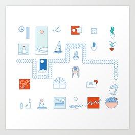 Casa de playa Art Print