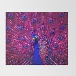 Peacock Pink 85 Throw Blanket