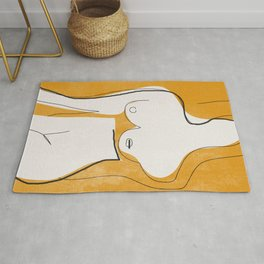 Abstract Line Art Nude Rug
