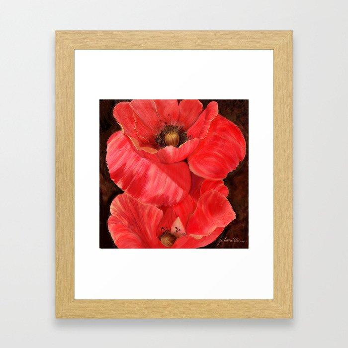 Red Poppy One Framed Art Print