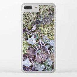 Frozen Foliage Clear iPhone Case