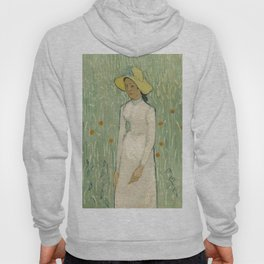 Girl in White, 1890 by Vincent Van Gogh Hoody