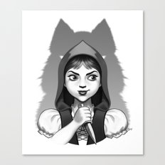 Little Red Riding Hood's Surprise Canvas Print