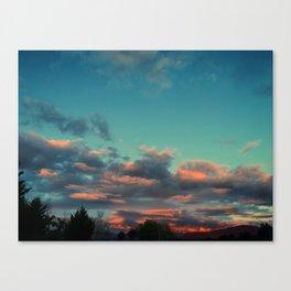 Smouldering Skies Canvas Print