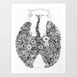 Anatomy Series: Thyroid Gland Flowers Art Print