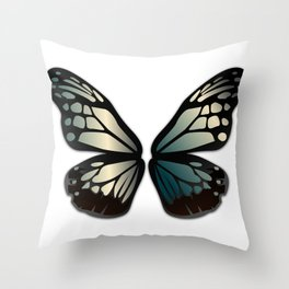 Butterfly Wings Steel Throw Pillow
