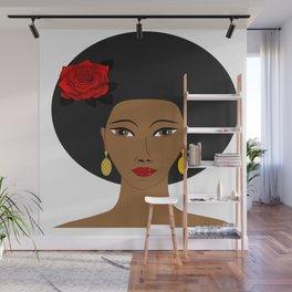 Afro Queen Wall Mural
