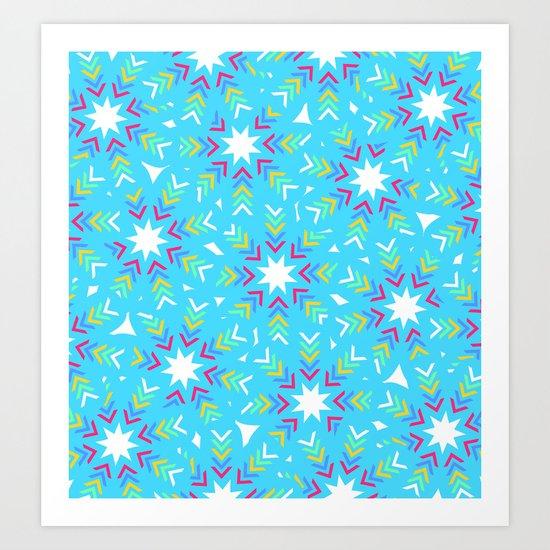 Decoration in blue Art Print
