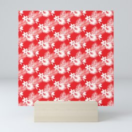Palms in red Mini Art Print