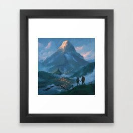 Adam's Peak Framed Art Print