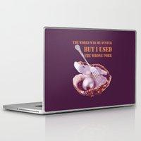 oscar wilde Laptop & iPad Skins featuring Oscar Wilde #1 The Oyster by bravo la fourmi