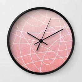 Scribble Linen - Blush Pink Wall Clock