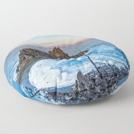 Shaman Rock on Olkhon Island, Baikal Floor Pillow