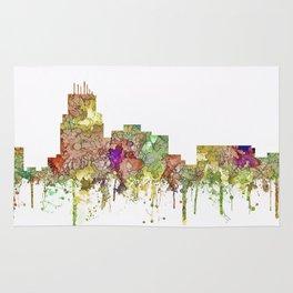 Durham,NC Skyline - Faded Glory Rug
