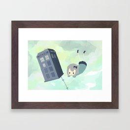 tardis sky Framed Art Print