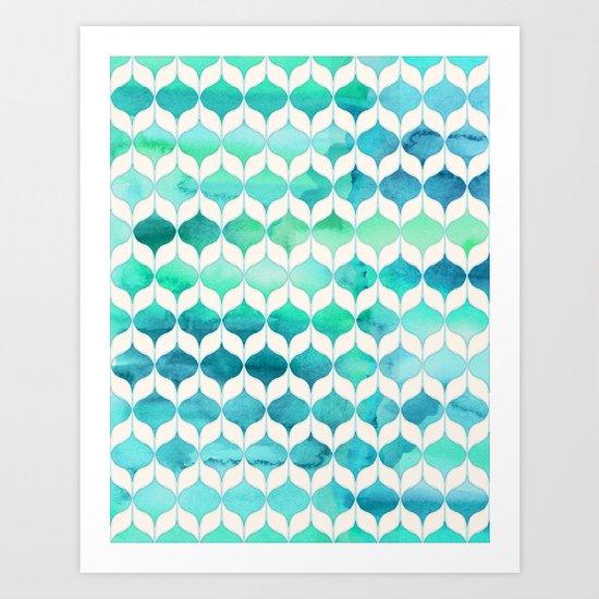 Ocean Rhythms and Mermaid's Tails Art Print